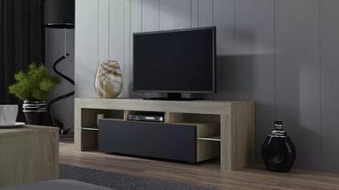 Design eines TV-Ständers im klassischen Stil.